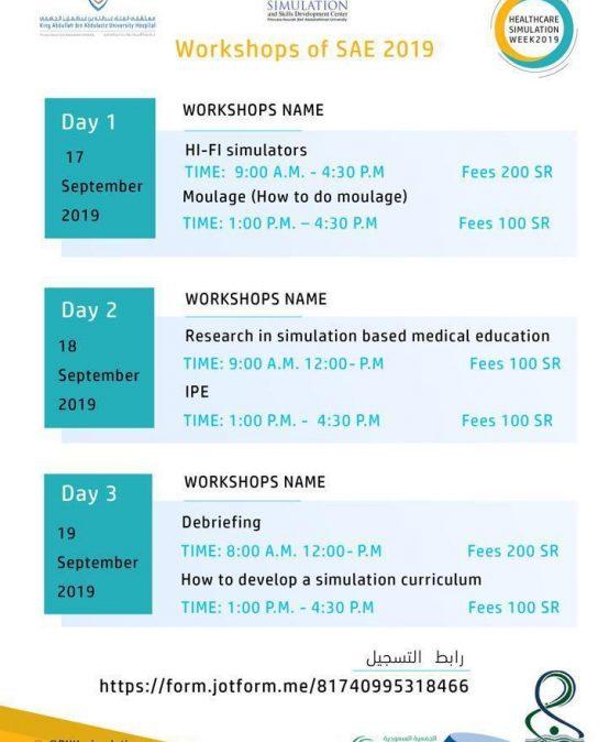 Workshop of SAE 2019
